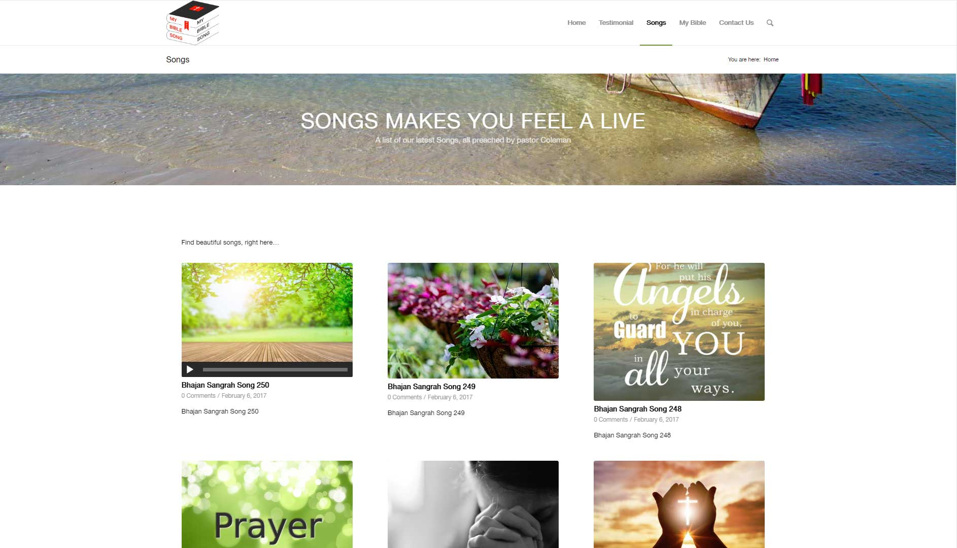 My Bible Song Website