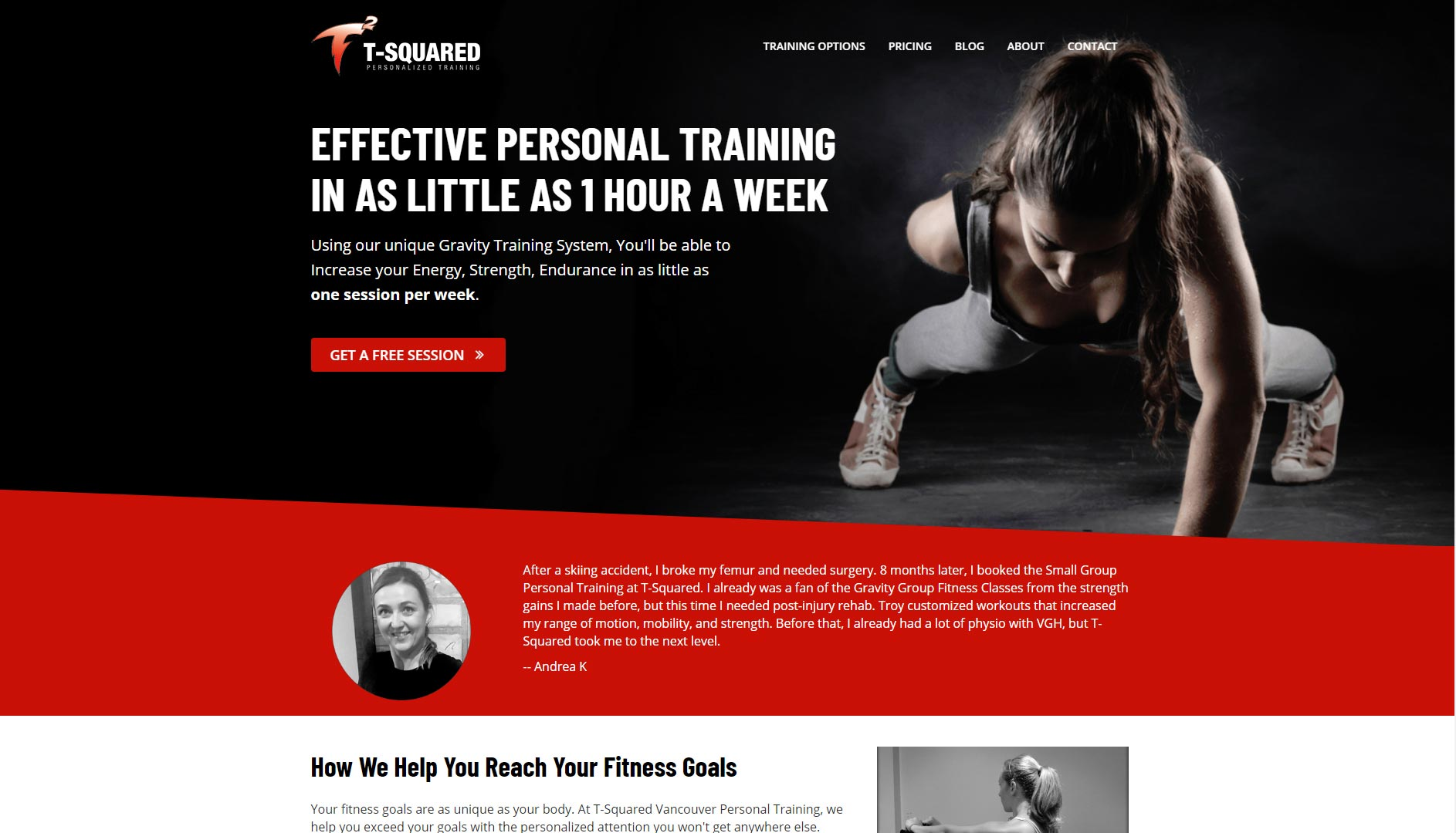 Tsquared Canada GYM Website